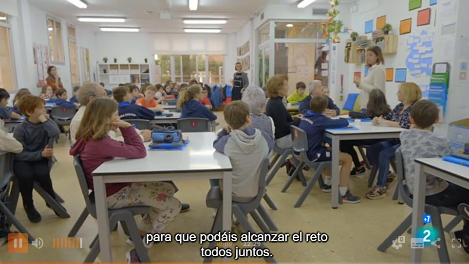 L'Escola Sadako al programa Generacion.es de RTVe